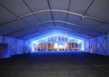 Clearspan tent interior