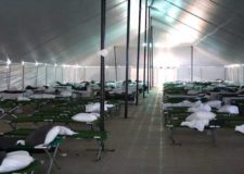cots in tent